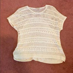 White see through shirt size 1x